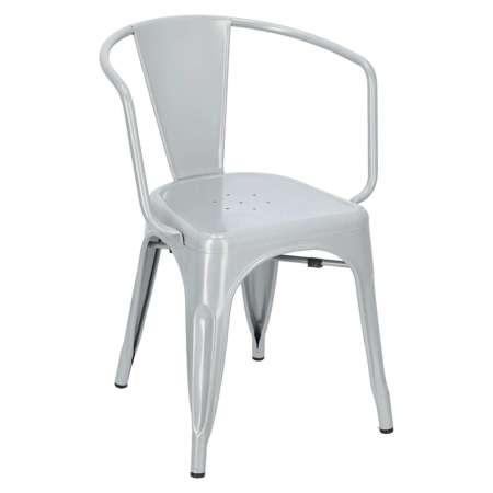 Krzesło Paris Arms szare inspirowane Tolix