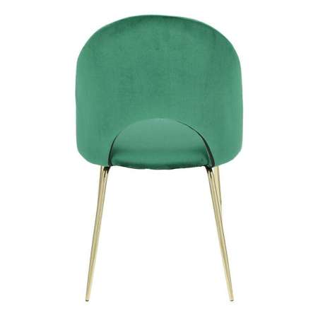 Krzesło Solie Velvet zielone/złote