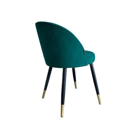 Morskie tapicerowane krzesło CENTAUR materiał MG-20 ze złotą nóżką