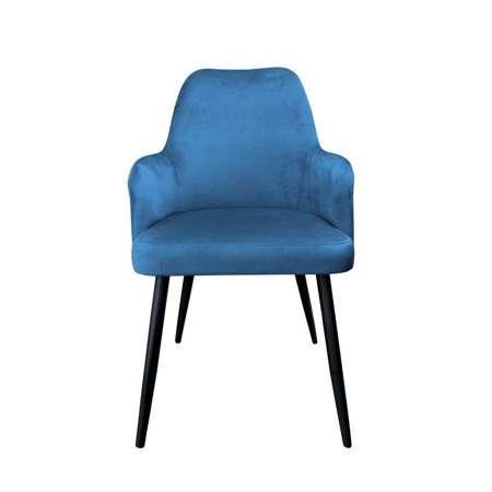 Niebieskie tapicerowane krzesło PEGAZ materiał MG-33