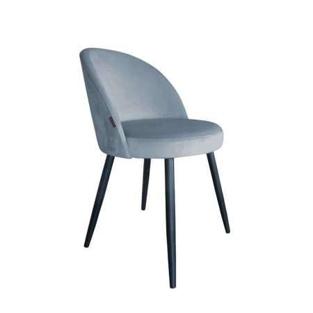 Niebieskoszare tapicerowane krzesło CENTAUR materiał BL-06