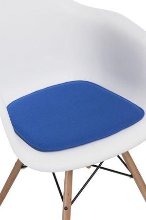 Poduszka na krzesło KR012F niebieska