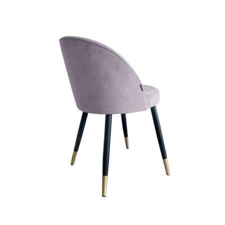 Różowe tapicerowane krzesło CENTAUR materiał MG-55 ze złotą nóżką
