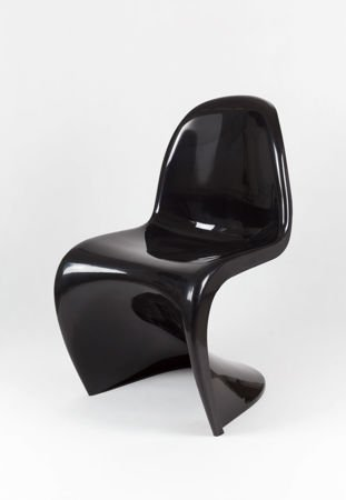 SK Design KR017 Czarne Krzesło Połysk