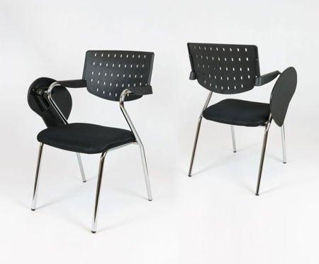 SK Design KR043 Czarne Krzesło z Pulpitem