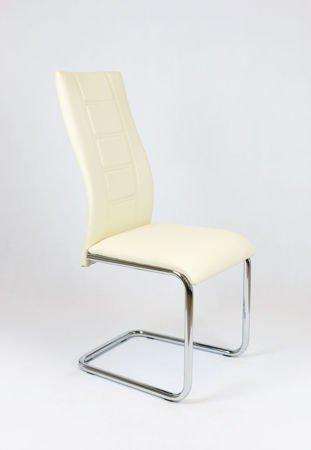 SK Design KS029 Kremowe Krzeseło z Ekoskóry