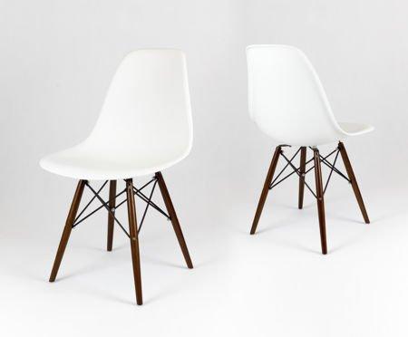 SK Design KR012 Białe Krzesło Wenge