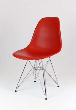 SK Design KR012 Ceglaste Krzesło - Nogi Chrom