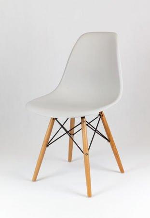 SK Design KR012 Jasnoszare Krzesło, Nogi buk