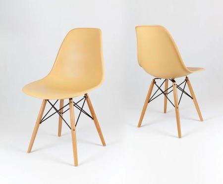 SK Design KR012 Piaskowe krzesło, Nogi buk
