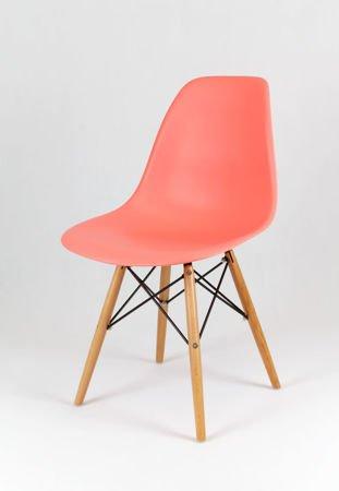 SK Design KR012 Różowe Krzesło, Nogi buk