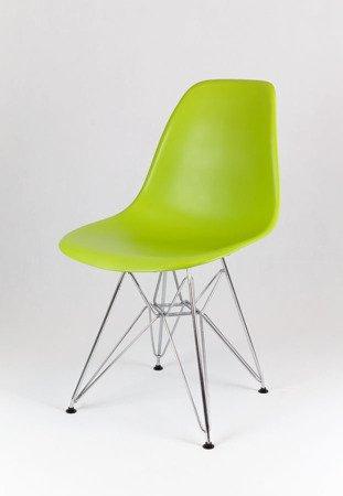 SK Design KR012 Seledynowe Krzesło, Chromowane nogi