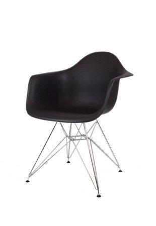 SK Design KR012F Czarny Fotel Chrom