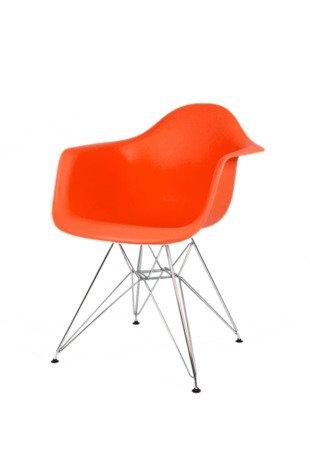 SK Design KR012F Pomarańczowy Fotel Chrom