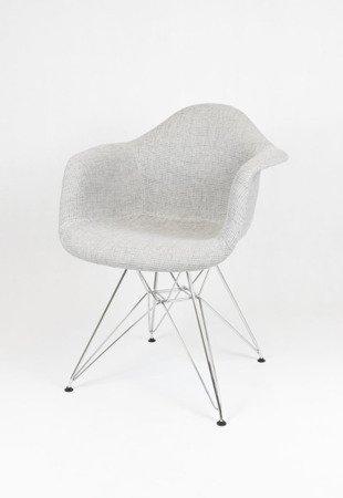 SK Design KR012F TSZSZ Szary Fotel Chrom
