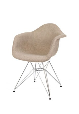 SK Design KR012F Tapicerowany Fotel Muna03 Chrom