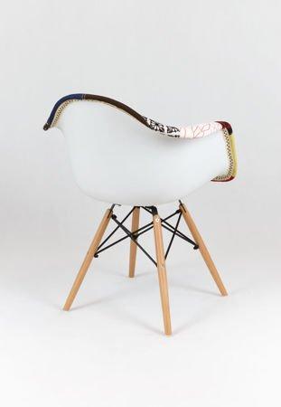 SK Design KR012F Tapicerowany Fotel Patchwork 3 Buk
