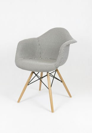 SK Design KR012F Tapicerowany Fotel Pepitka Buk
