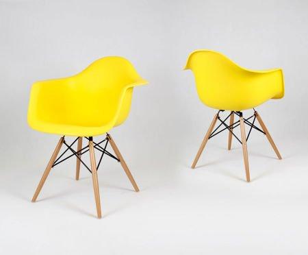 SK Design KR012F Żółty Fotel Buk