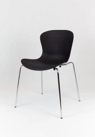 SK Design KR019 Czarne Krzesło Metalowy Stelaż