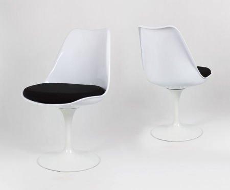 SK Design KR029 Białe Obrotowe Krzesło / powystawowe