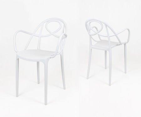 SK Design KR050 Białe Krzesło