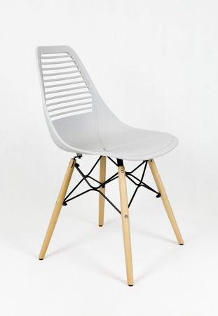 SK Design KR058  Jasnoszare krzesło