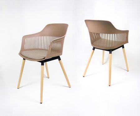 SK Design KR064 Kawa z Mlekiem Krzesło Tapicerowane