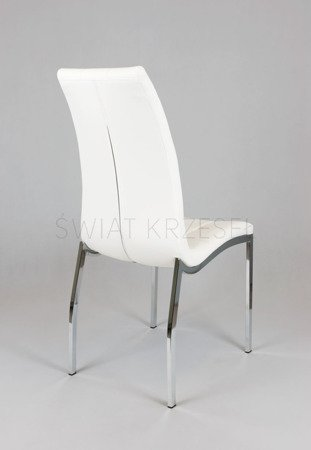 SK Design KS002 Białe Pikowane  Krzesło