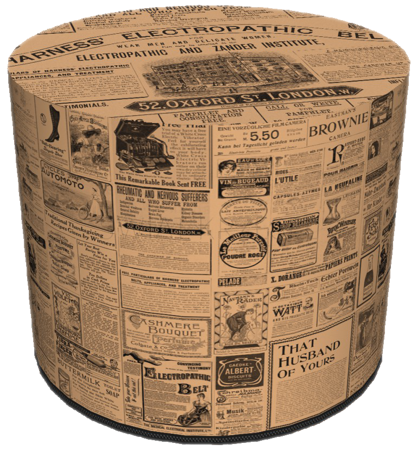 SKP Pufa Dekoracyjna NEWSPAPER HD