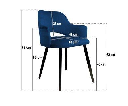 Szare tapicerowane krzesło STAR materiał MG-17