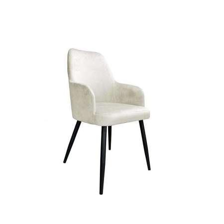 Tapicerowane krzesło PEGAZ w kolorze kości słoniowej materiał MG-50