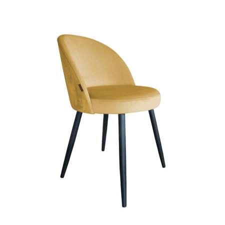 Żółte tapicerowane krzesło CENTAUR materiał MG-15